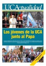 Los jóvenes de la UCA junto al Papa - Universidad Católica Argentina