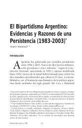 El bipartidismo argentino: Evidencias y razones de una ... - Dialnet