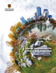 Energy Innovations for Today and Tomorrow - University of Calgary