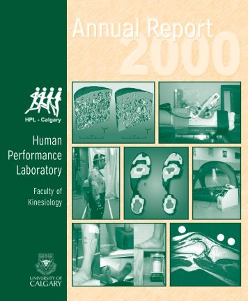 Annual Report 2000 - University of Calgary