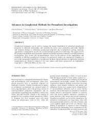 Advances in geophysical methods for permafrost investigations
