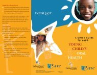 A Quick Guide to Your Young Child's Oral Health - UCare