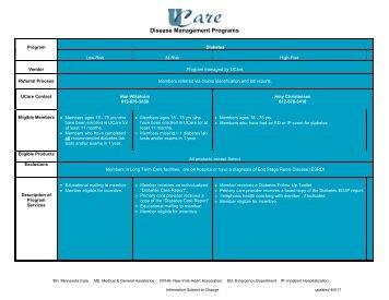 Disease Management - UCare
