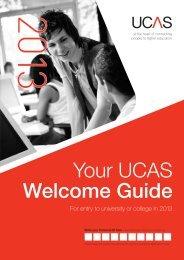 Welcome guide 2013 (pdf) - UCAS