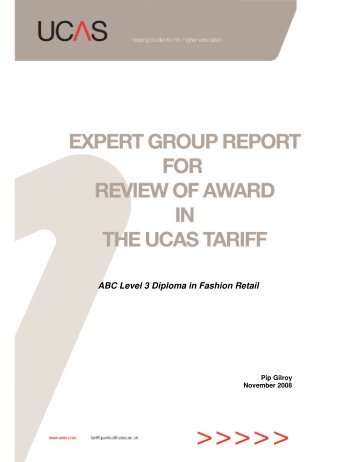 ABC Level 3 Diploma in Fashion Retail report 2008 (pdf) - UCAS