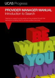 PROVIDER MANAGER MANUAL Introduction to Search - UCAS