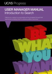 User Manager Manual - intro to search (pdf) - UCAS