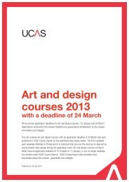 Art and design courses 2013 with a deadline of 24 March - UCAS