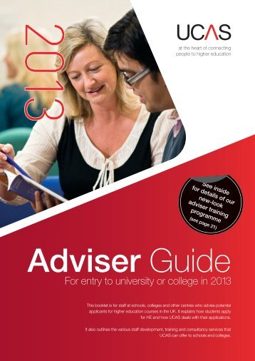 Adviser guide 2013 - UCAS