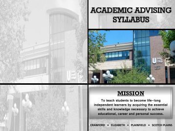academic advising syllabus St olaf college academic advising syllabus vision of academic advising from national academic advising association (nacada) academic advising is an educational process that, by intention and design, facilitates students' understanding of the meaning and purpose of higher education and fosters their intellectual and personal development.