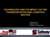 technology and its impact on the transportation and logistics sector