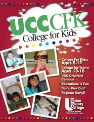 Don't Miss Out! - Union County College