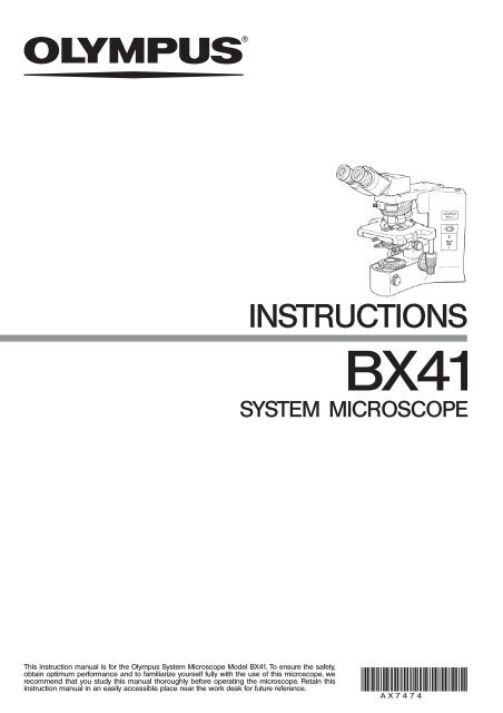 Olympus bx50 microscope instruction manual propigi.