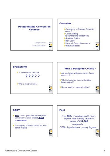 Postgraduate Conversion Courses