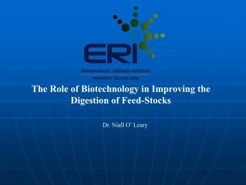 The Role of Biotechnology in Improving the Digestion of Feed-Stocks