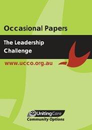 The Leadership Challenge (PDF) - UnitingCare Community Options