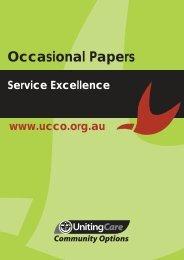 Service Excellence (PDF) - UnitingCare Community Options