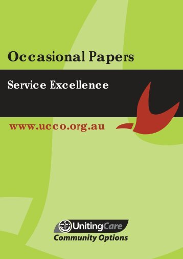 Service Excellence (PDF) - UnitingCare Community Options
