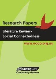 Literature Review Social Connectedness (PDF) - UnitingCare ...