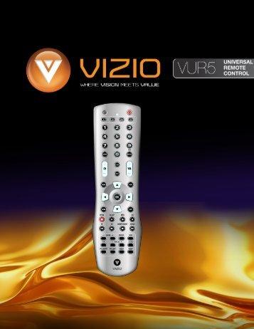 VIZIO VUR5 Universal Remote User Manual