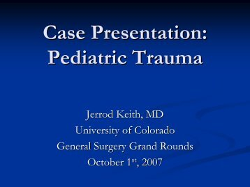 Jared Keith, MD, Resident in Surgery - University of Colorado Denver