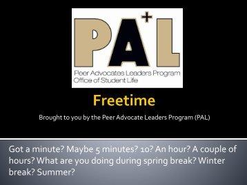 Freetime - University of Colorado Denver