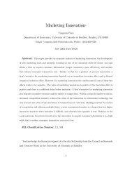 Marketing Innovation* - University of Colorado Denver
