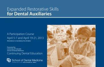 Expanded Restorative Skills - University of Colorado Denver