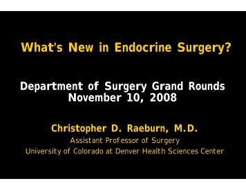 Christopher Raeburn, MD, Assistant Professor/GI, Tumor and ...