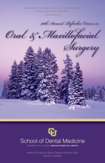 46th Annual Refresher Course in Oral and Maxillofacial Surgery