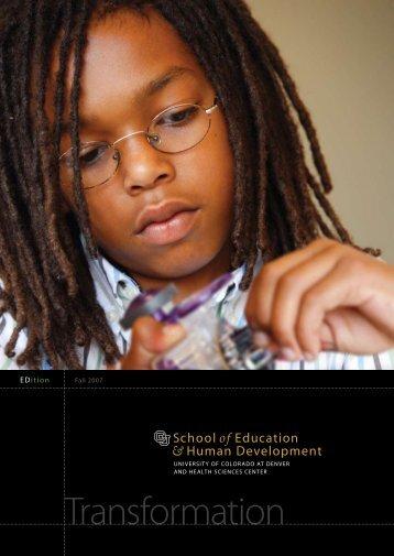 Transformation - University of Colorado Denver
