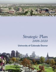 Strategic Plan - University of Colorado Denver
