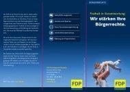 Freiheit in Verantwortung: Wir stärken Ihre Bürgerrechte - FDP