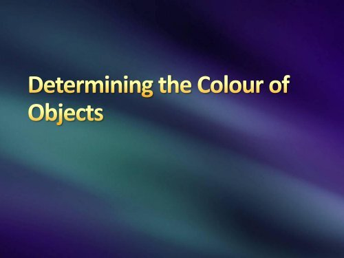 Colour of Object
