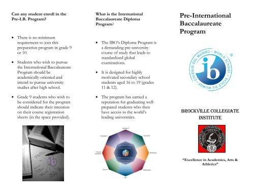 Pre-International Baccalaureate Program