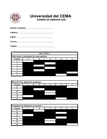 Respuestas examen modelo 2 - Universidad del CEMA