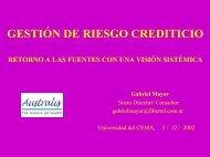 GESTIÓN DE RIESGO CREDITICIO - Universidad del CEMA