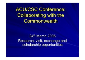 ACU/CSC Conference - UCET: Universities' Council for the ...