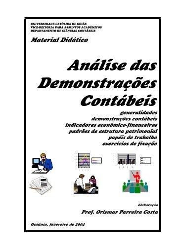 Material Didático Análise das Demonstrações Contábeis - Ucg