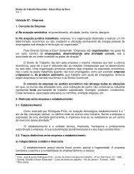 Unidade 07 - Empresa 1. Conceito de Empresa a) Na ... - Ucg