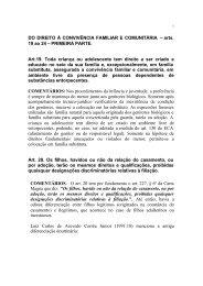 UCG - DIREITO À CONVIVENCIA FAMILIAR E COMUNITARIA ...