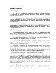 Unidade 06 - Empregador 1. Conceito legal Art. 2º da CLT ... - Ucg