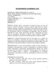 planejamento acadêmico – ucg disciplina: direito processual civil iv ...