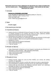PROCESSO SELETIVO PARA ADMISSÃO NO CURSO DE ... - Ucg