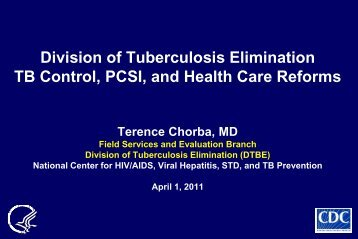 TB Control, PCSI, and Health Care Reforms - Urban Coalition for ...