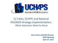 12 Cities, ECHPP, and National HIV/AIDS Strategy Implementation:
