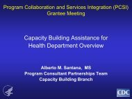 Capacity Building Assistance for Health Department Overview