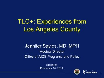 TLC+: Experiences from Los Angeles County - Urban Coalition for ...