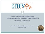 San Francisco - Urban Coalition for HIV/AIDS Prevention Services