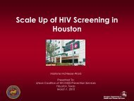 Houston - Urban Coalition for HIV/AIDS Prevention Services